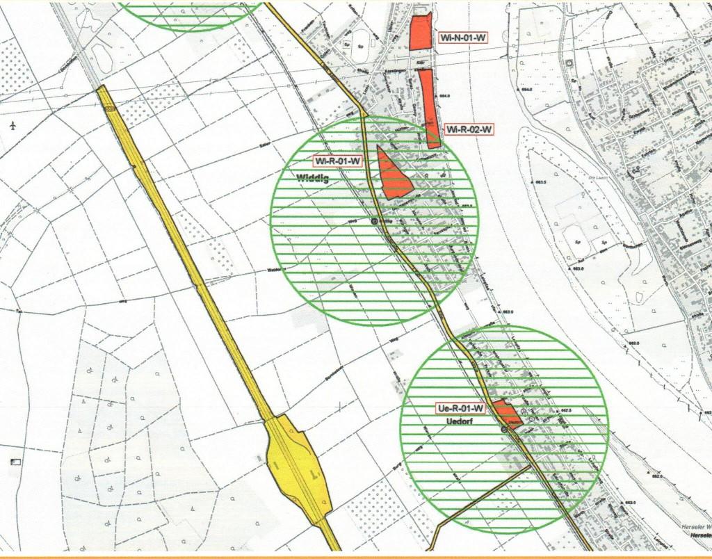 Neue Wohnbauflächen für Uedorf und Widdig?