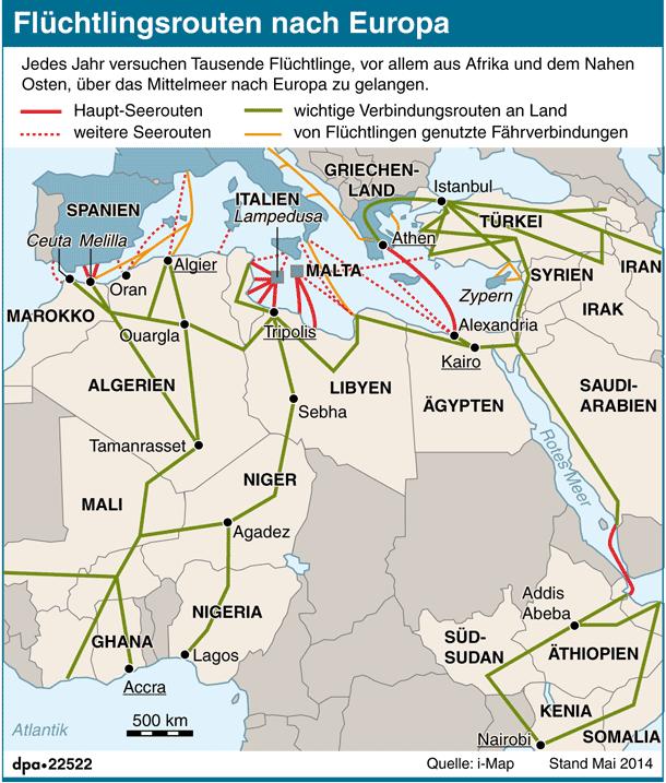 Flüchtlingsrouten