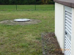 Uferfiltratbrunnen für Sickerwasser im Widdig, ca. 50 m vom Rhein entfernt
